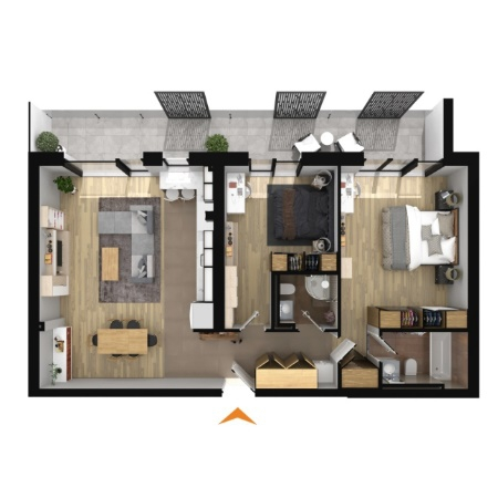 Apartments with 3 rooms B3