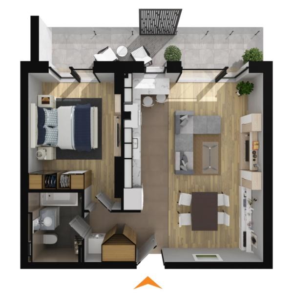 Apartamente 2 camere în imobil B1