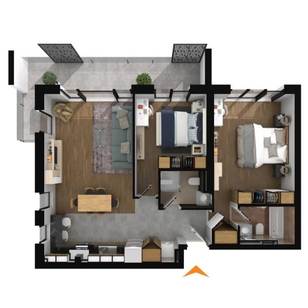 Apartamente 3 camere în imobil B1