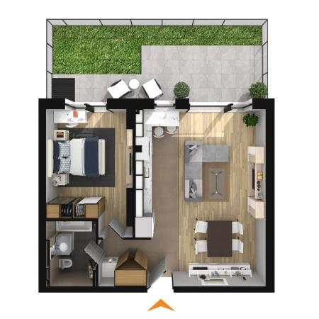 Apartamente 2 camere în imobil B2